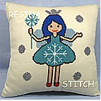 CROSS STITCH AIDA CUSHION KIT 581